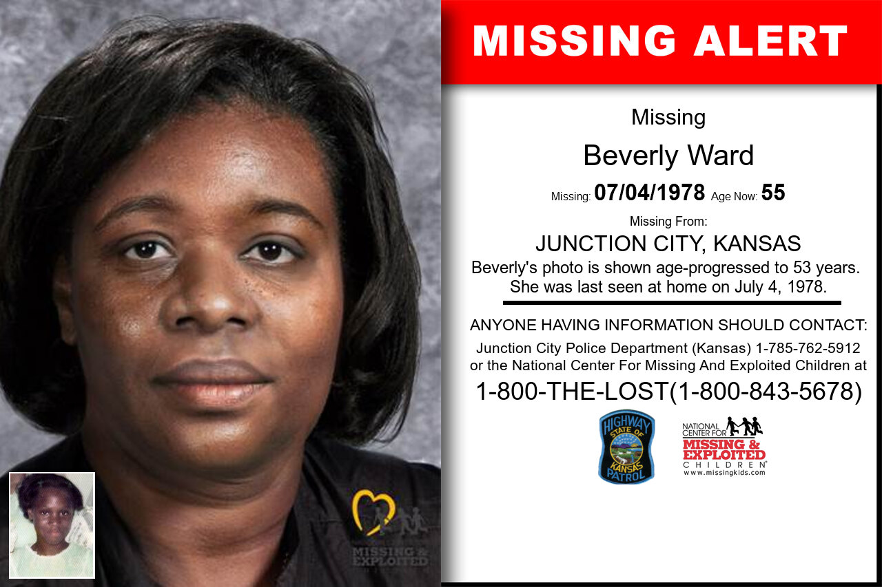 BEVERLY_WARD missing in Kansas