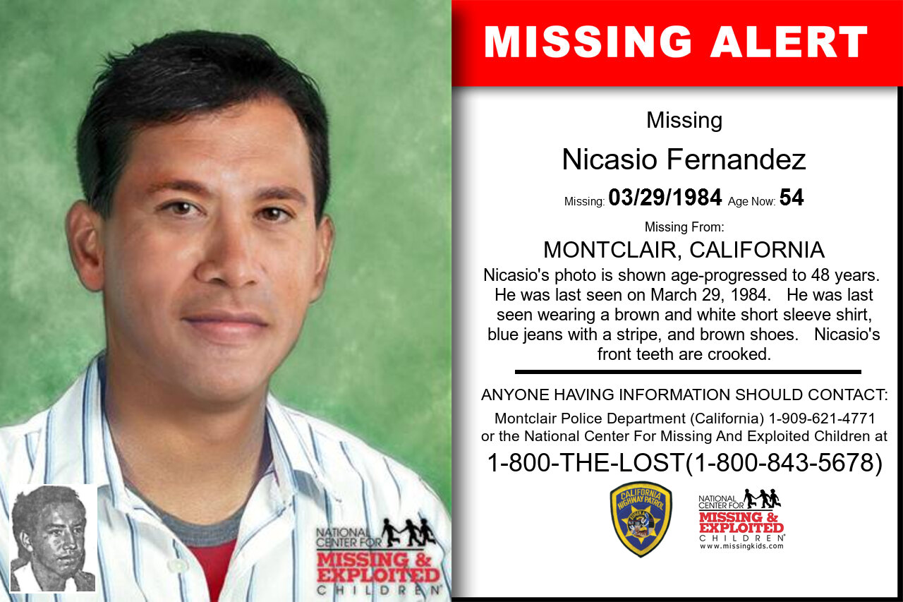 NICASIO_FERNANDEZ missing in California