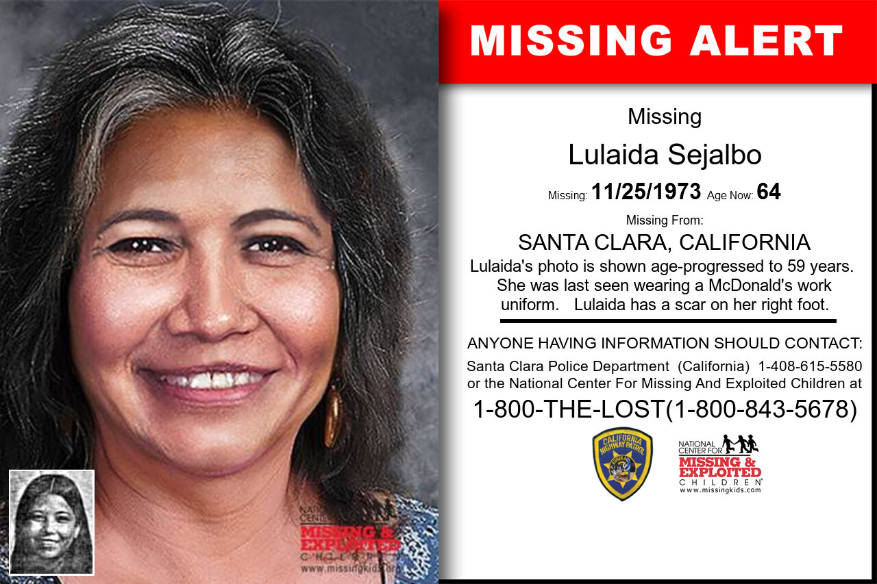 LULAIDA_SEJALBO missing in California