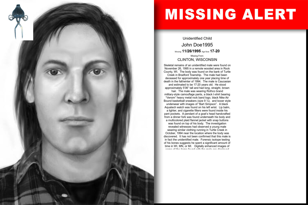 JOHN_DOE1995 missing in Wisconsin
