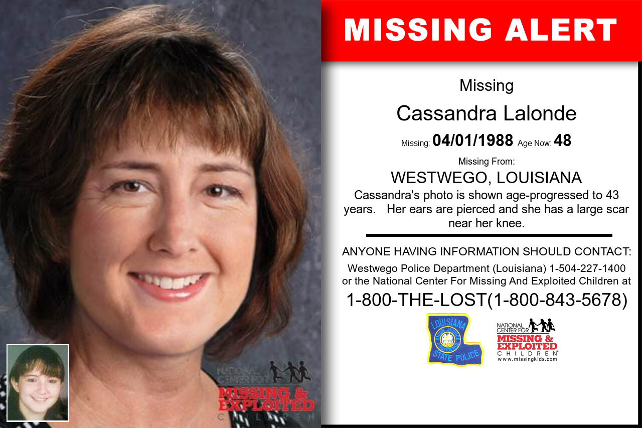 CASSANDRA_LALONDE missing in Louisiana
