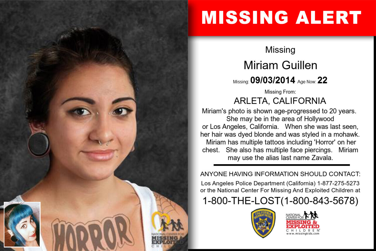 Miriam_Guillen missing in California