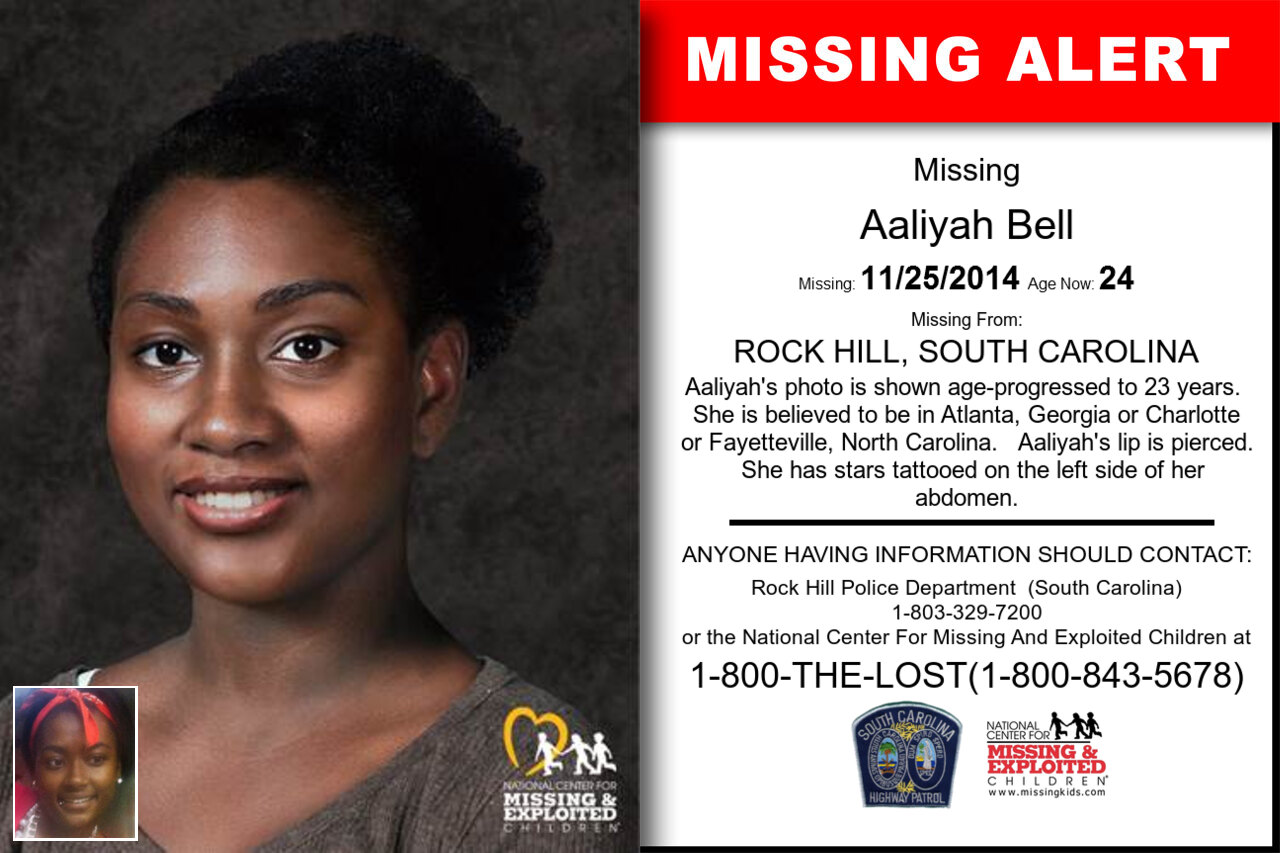 Aaliyah_Bell missing in South_Carolina