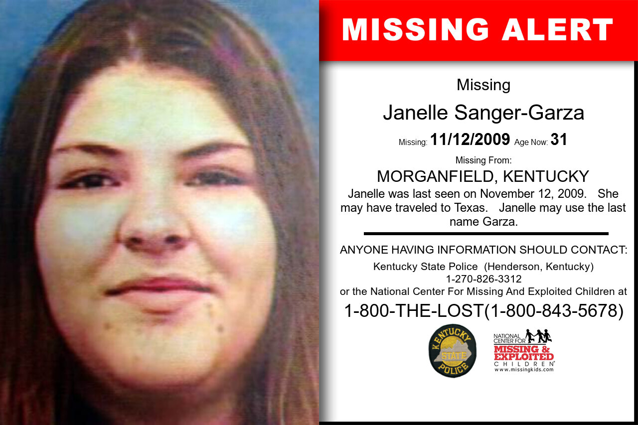 JANELLE_SANGER-GARZA missing in Kentucky