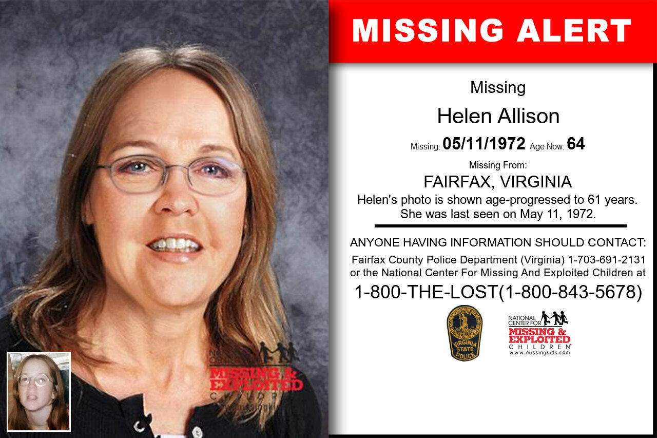 HELEN_ALLISON missing in Virginia
