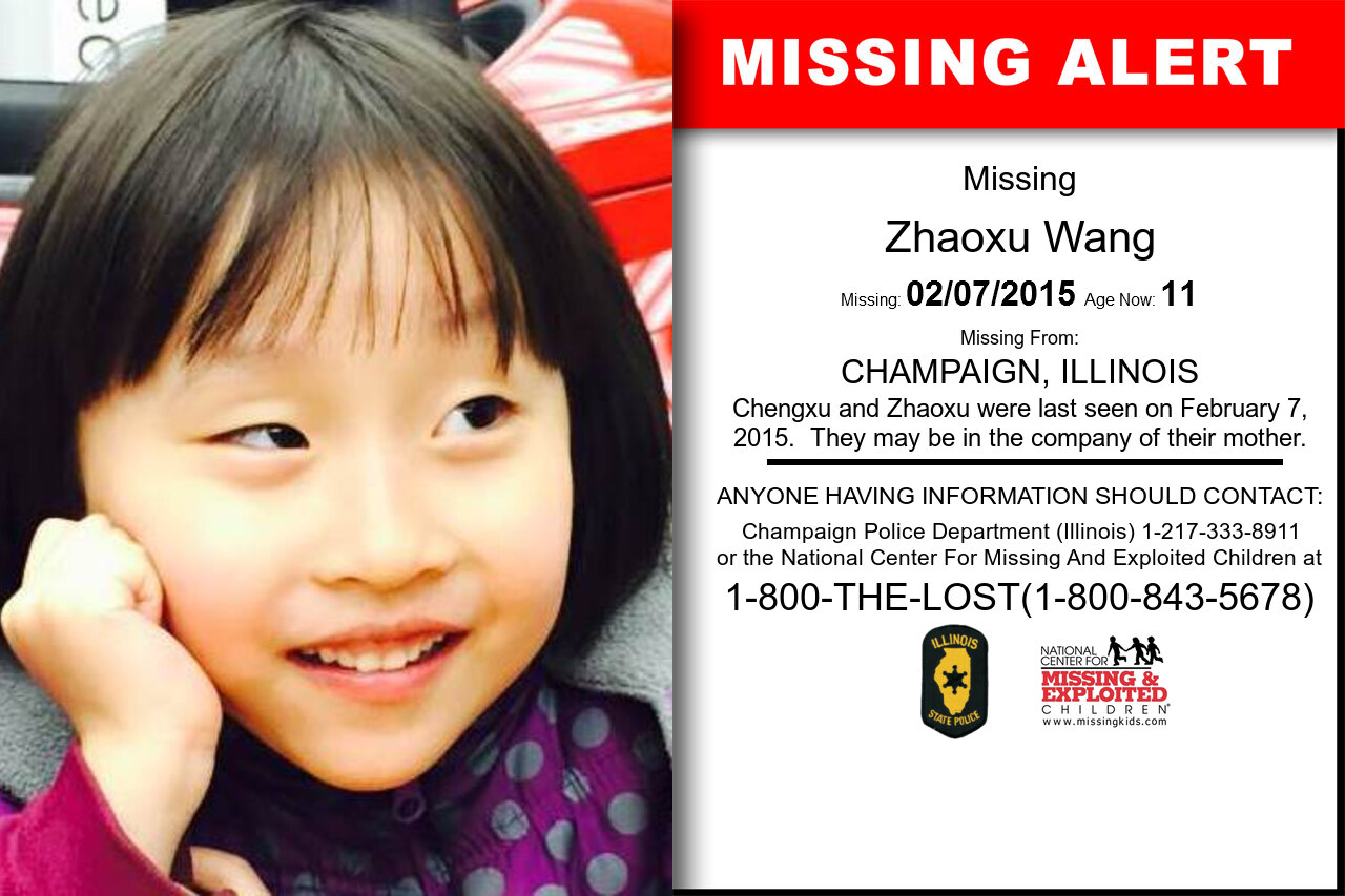ZHAOXU_WANG missing in Illinois