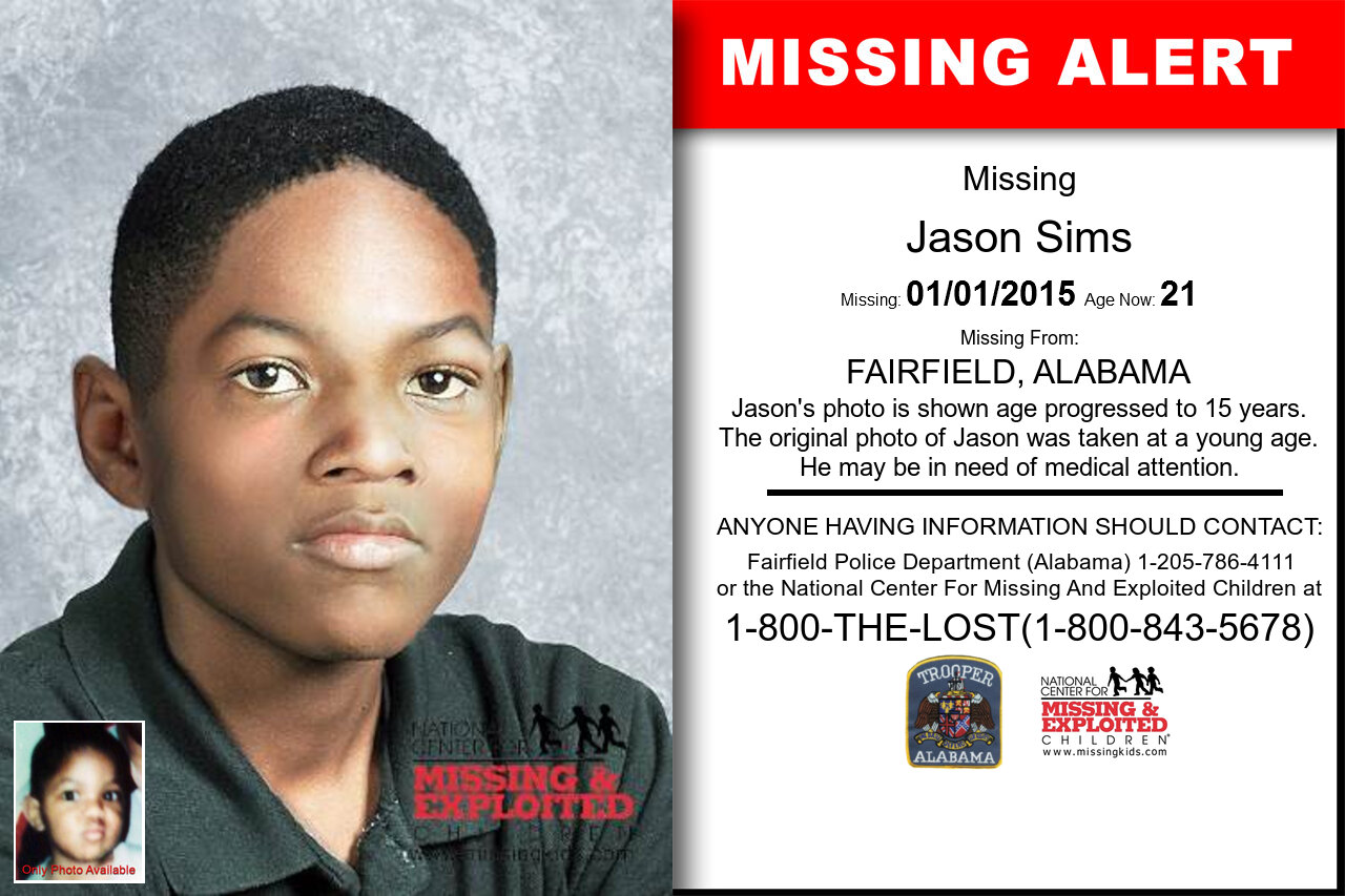 JASON_SIMS missing in Alabama