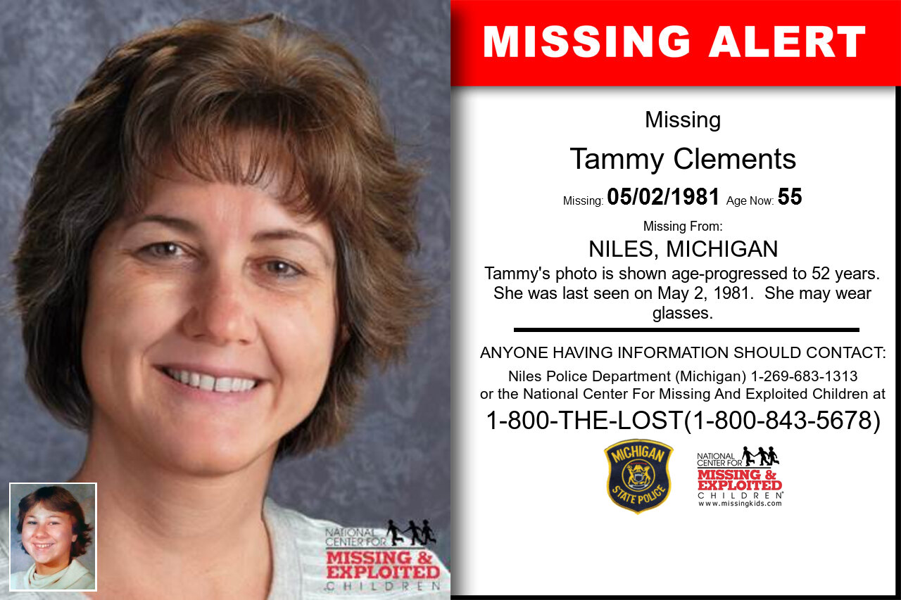 TAMMY_CLEMENTS missing in Michigan