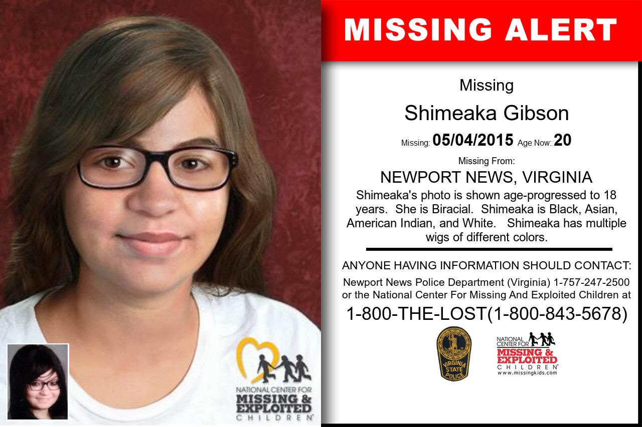 SHIMEAKA_GIBSON missing in Virginia
