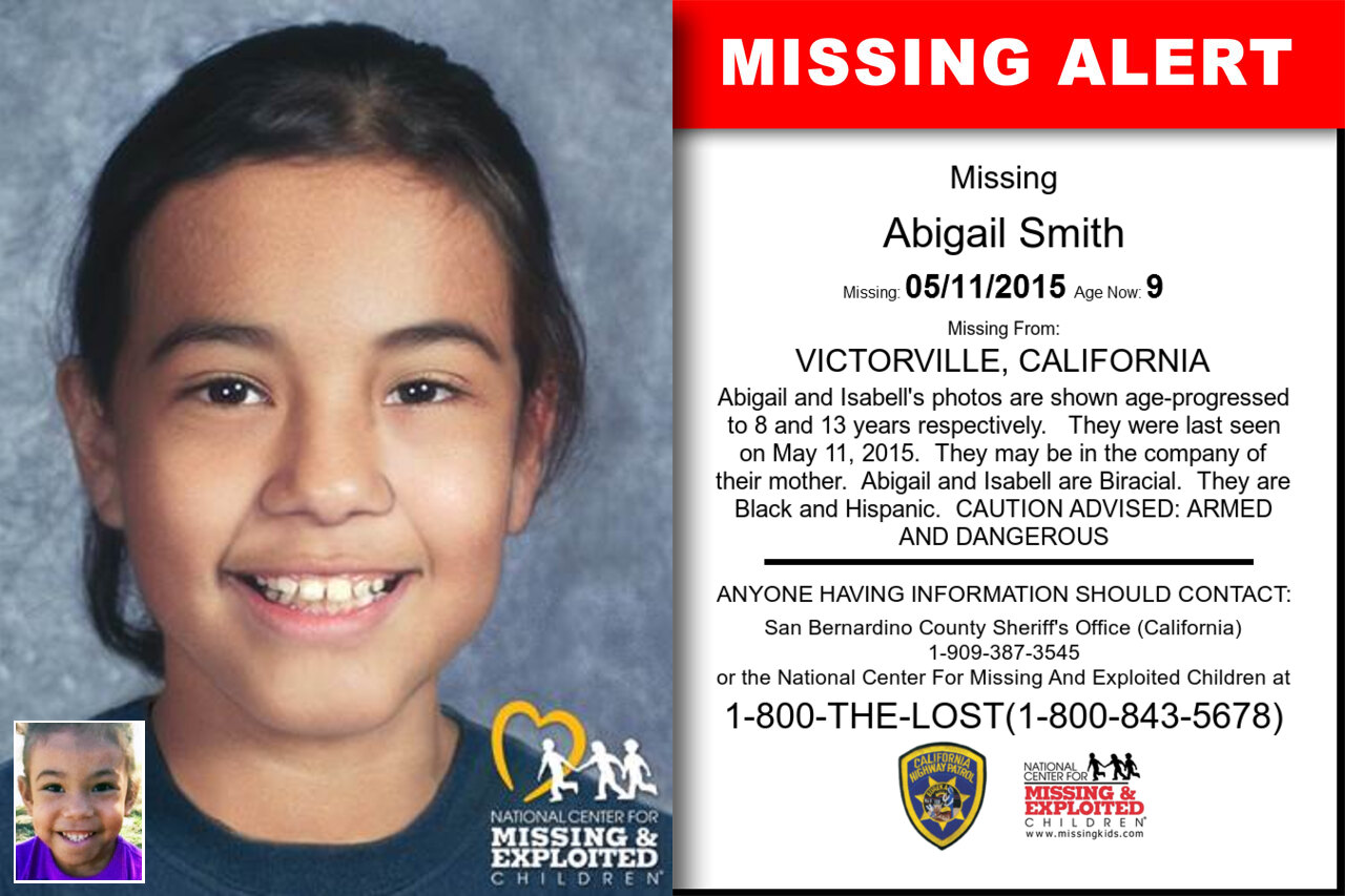 ABIGAIL_SMITH missing in California