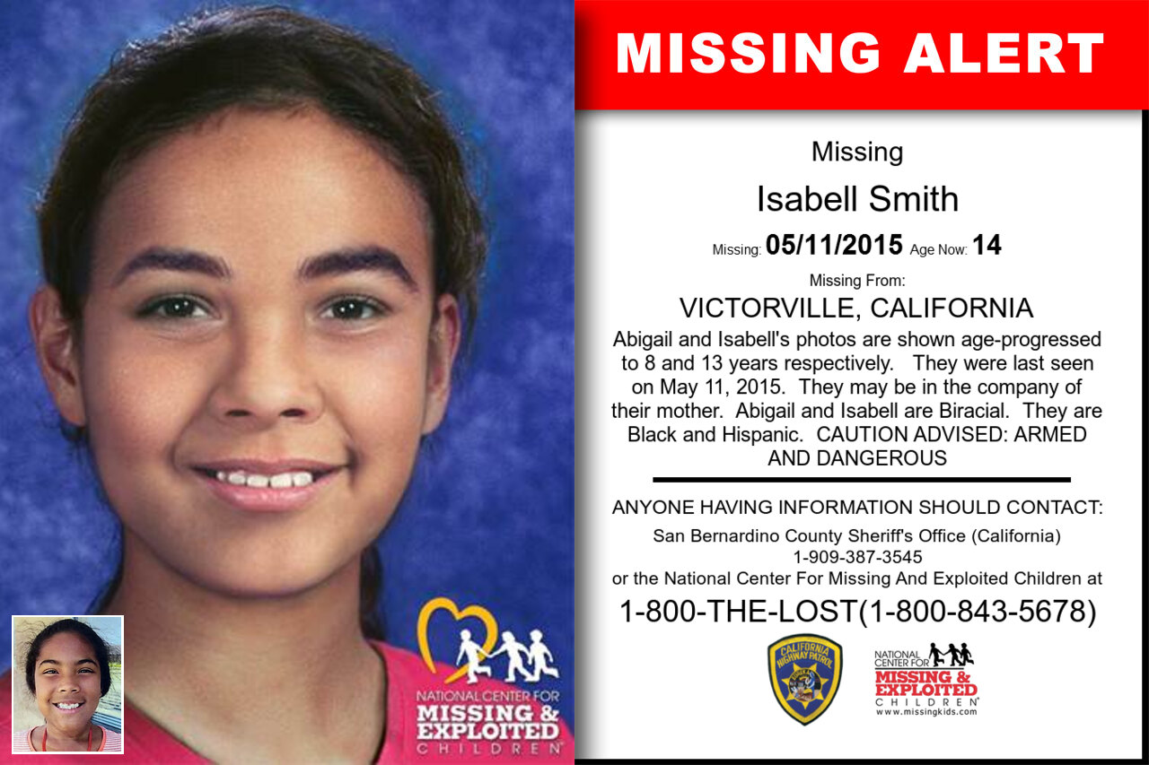 ISABELL_SMITH missing in California