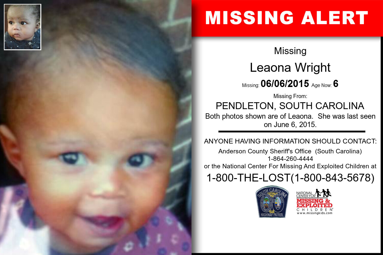 Leaona_Wright missing in South_Carolina