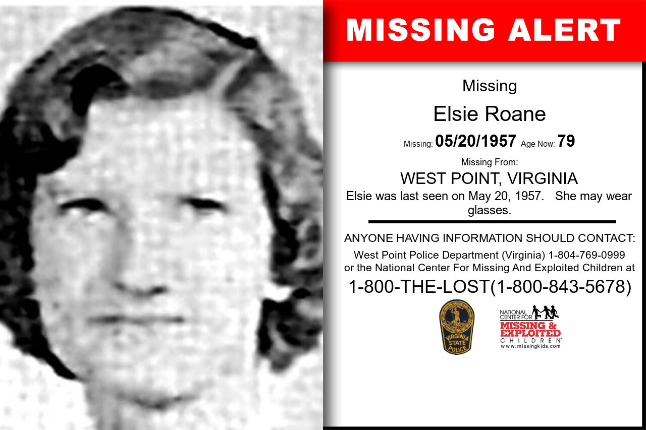ELSIE_ROANE missing in Virginia