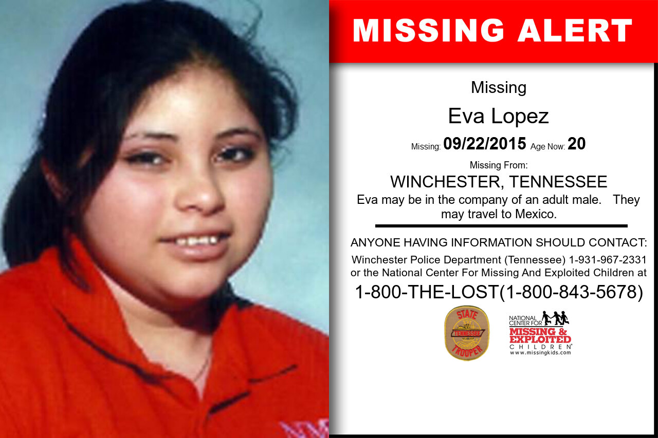 Eva_Lopez missing in Tennessee