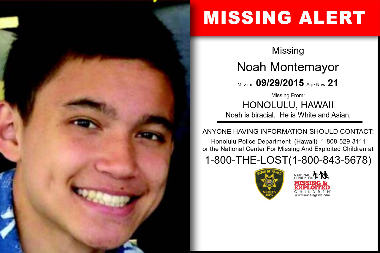 NOAH_MONTEMAYOR missing in Hawaii