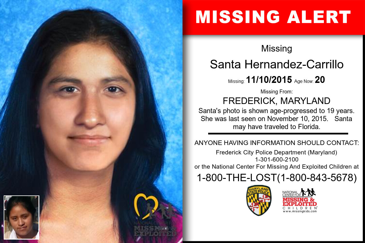 SANTA_HERNANDEZ-CARRILLO missing in Maryland