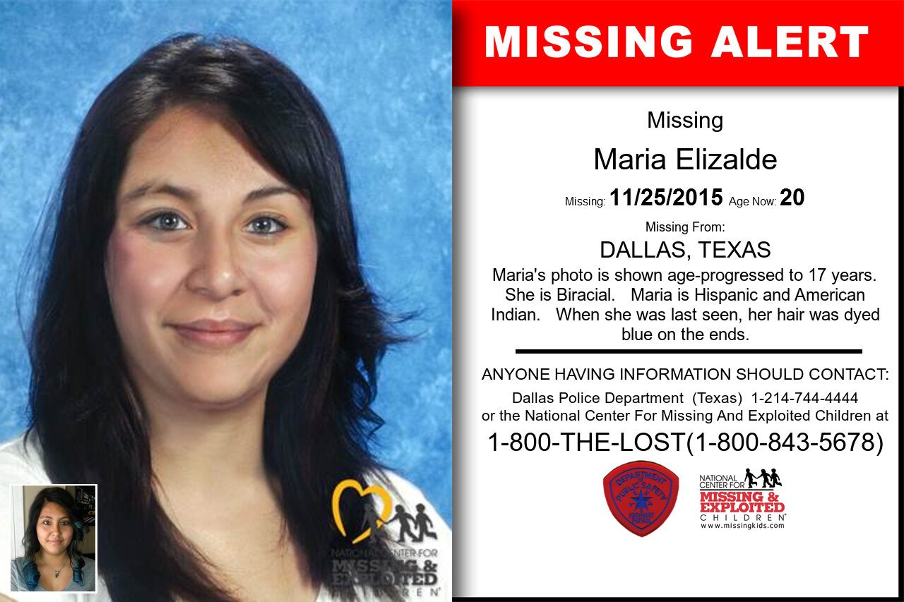 Maria_Elizalde missing in Texas