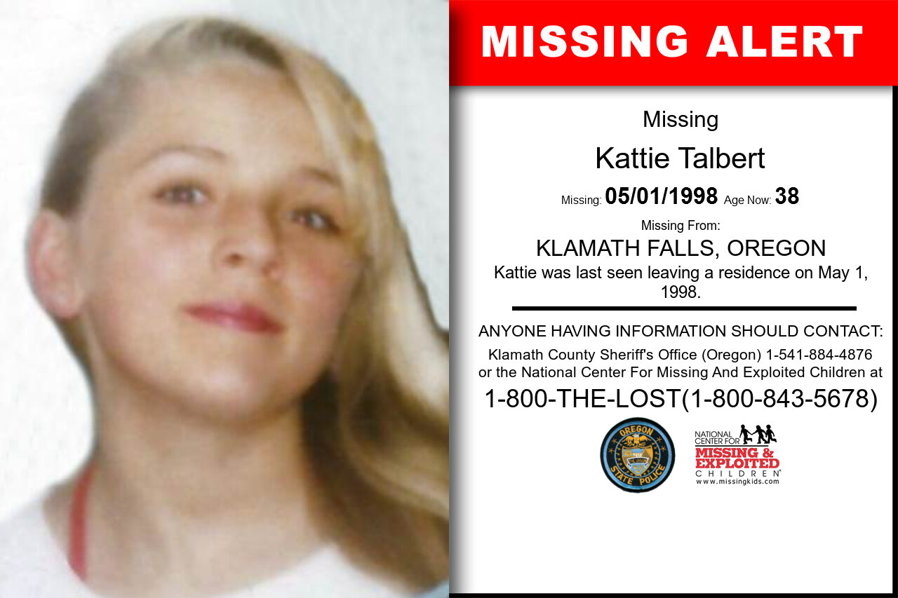 Kattie_Talbert missing in Oregon
