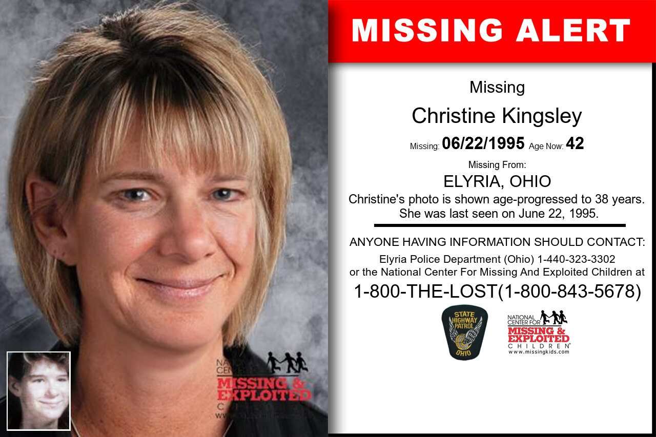 CHRISTINE_KINGSLEY missing in Ohio
