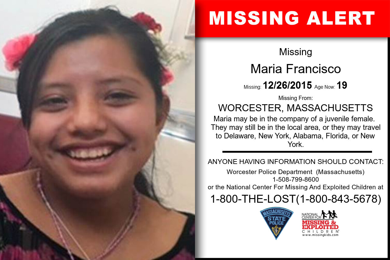 Maria_Francisco missing in Massachusetts