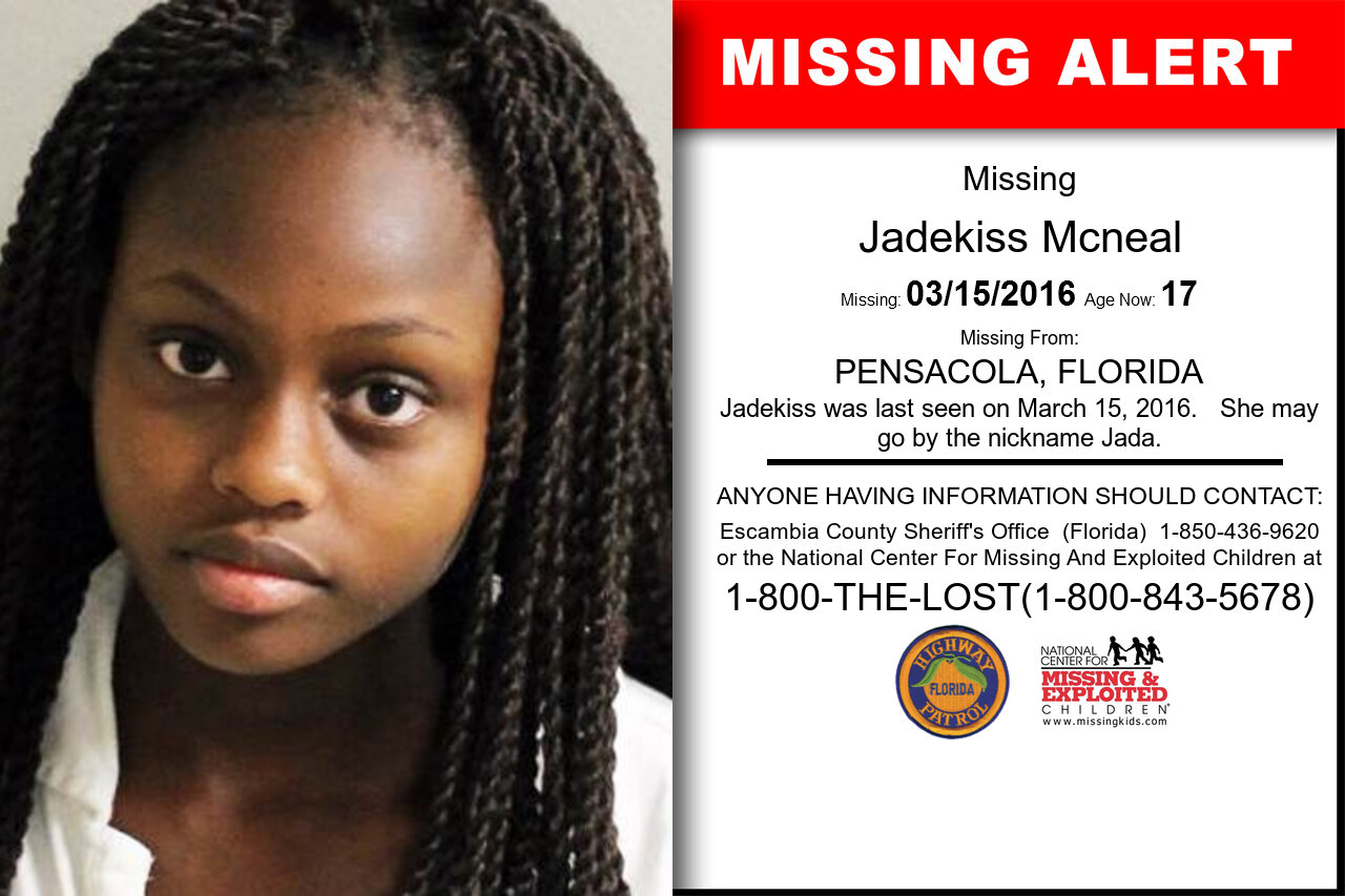 Jadekiss_Mcneal missing in Florida