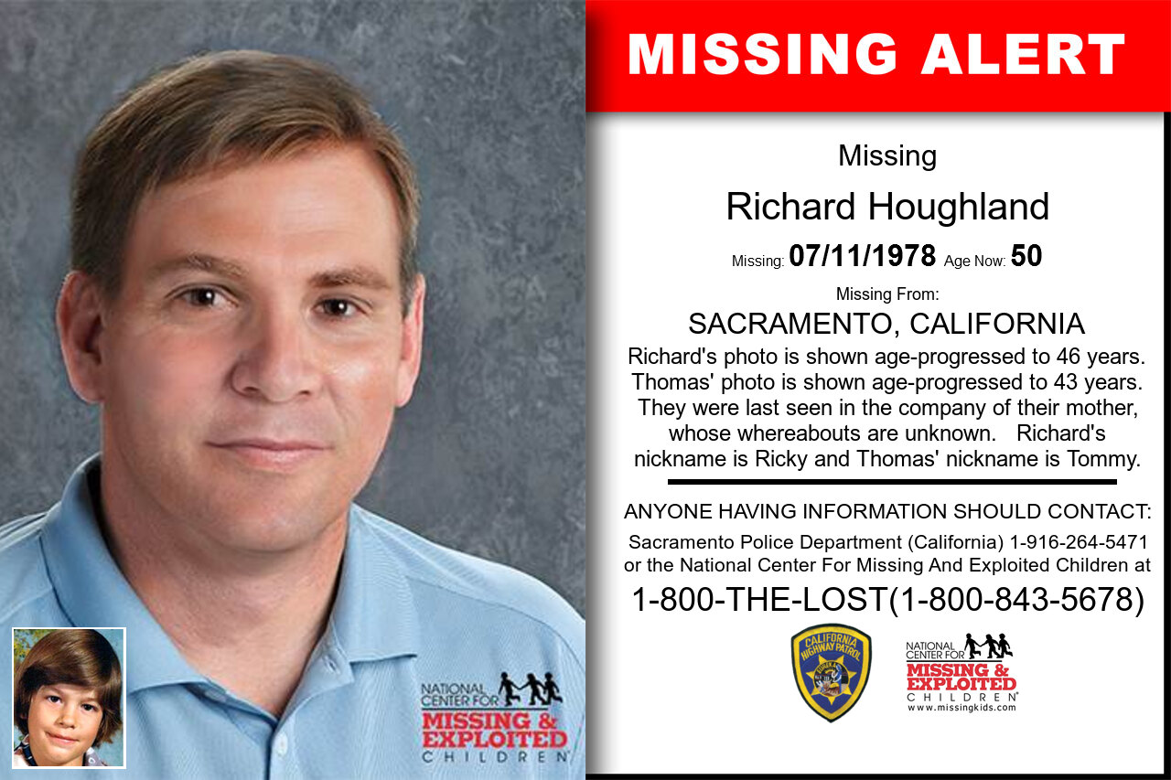 RICHARD_HOUGHLAND missing in California