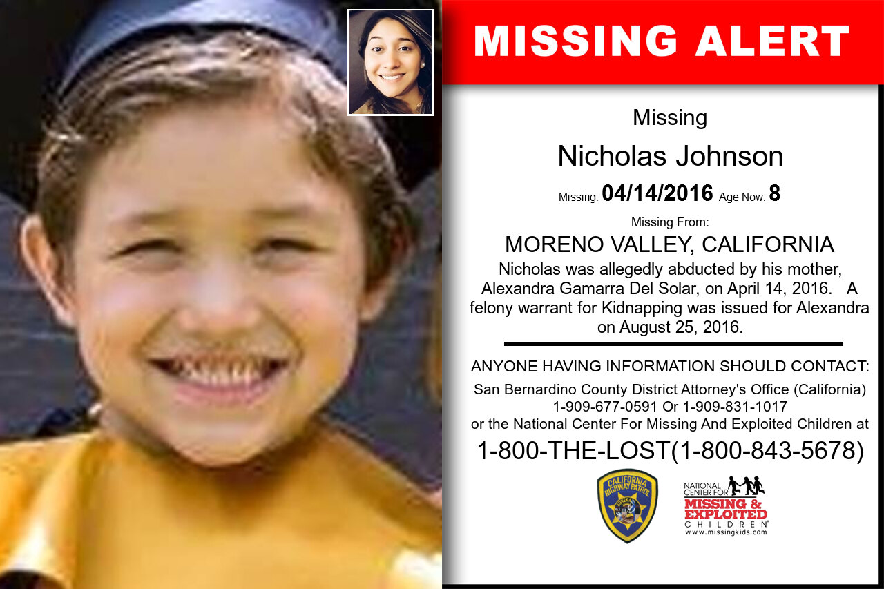 NICHOLAS_JOHNSON missing in California