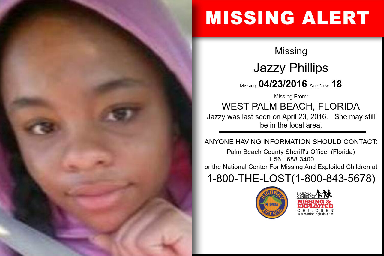 JAZZY_PHILLIPS missing in Florida