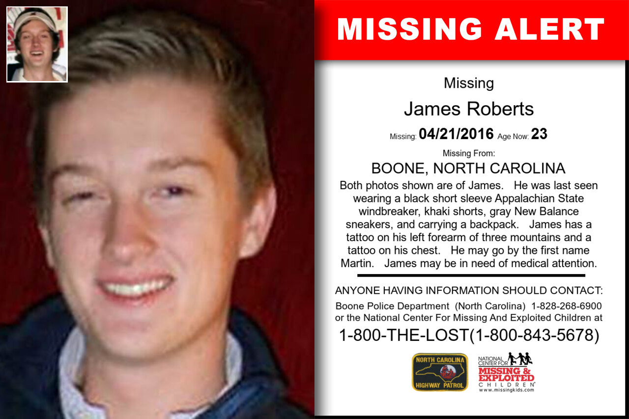 JAMES_ROBERTS missing in North_Carolina