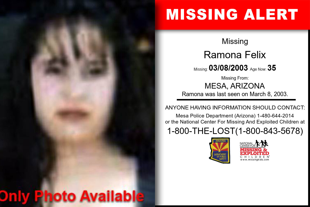 RAMONA_FELIX missing in Arizona