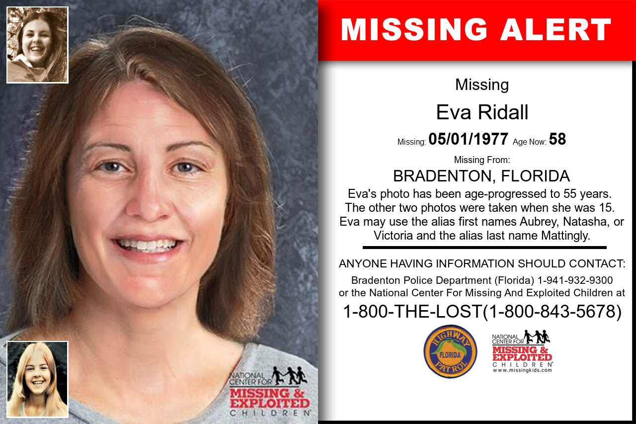 EVA_RIDALL missing in Florida