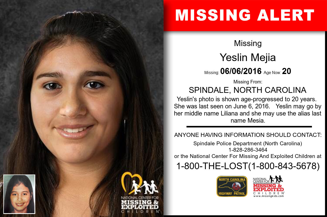 YESLIN_MEJIA missing in North_Carolina