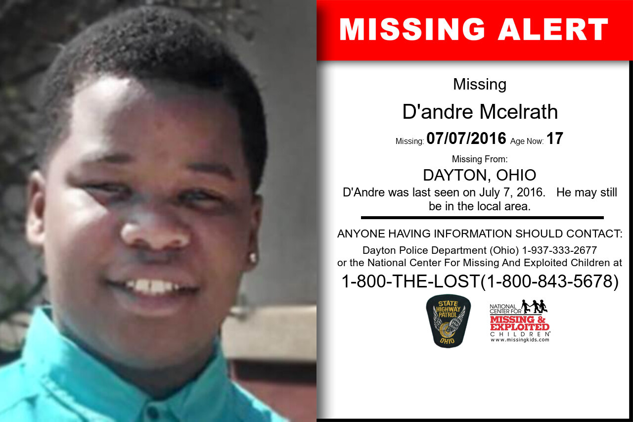 D'andre_Mcelrath missing in Ohio