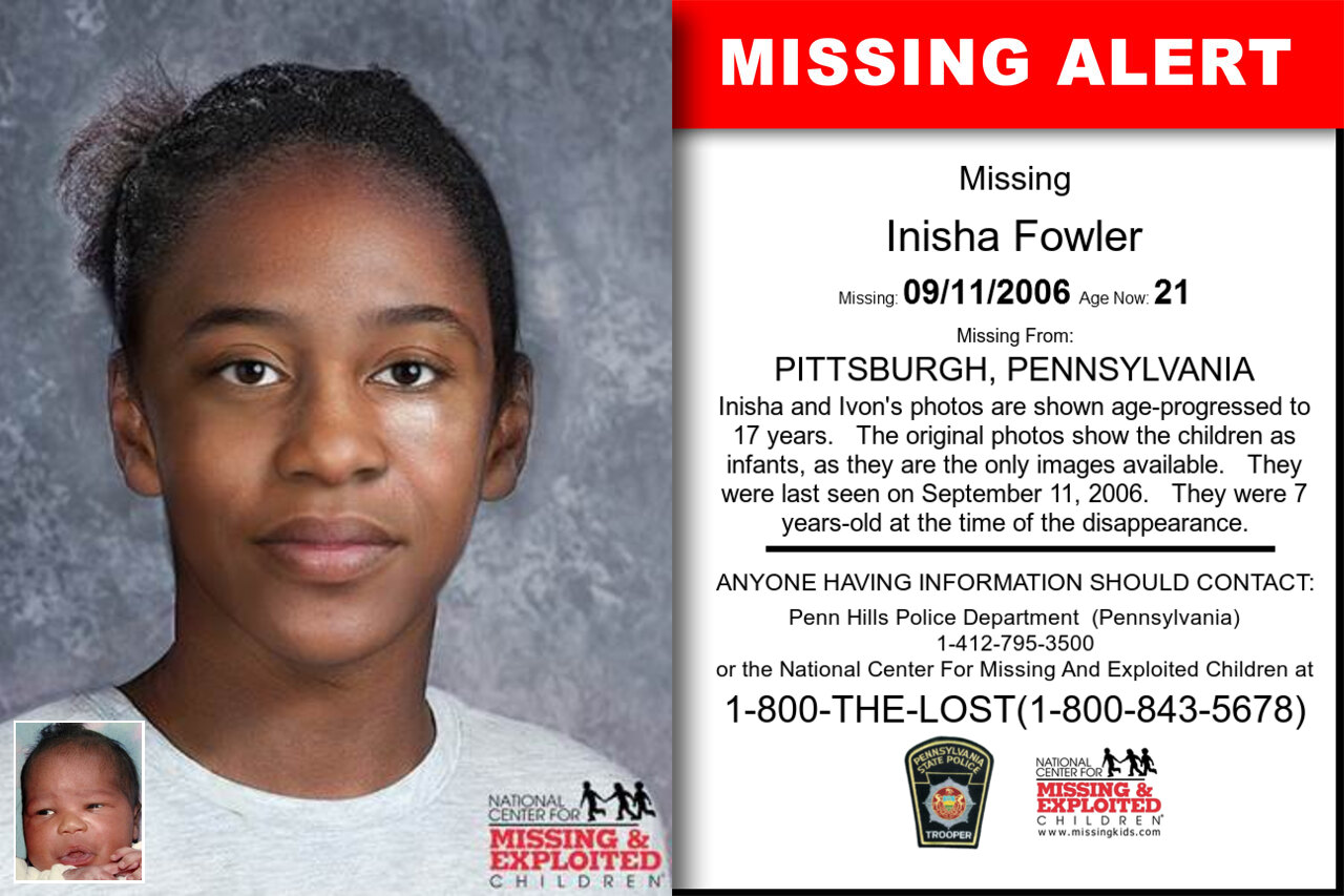 INISHA_FOWLER missing in Pennsylvania