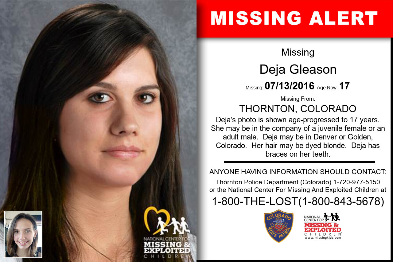 DEJA_GLEASON missing in Colorado