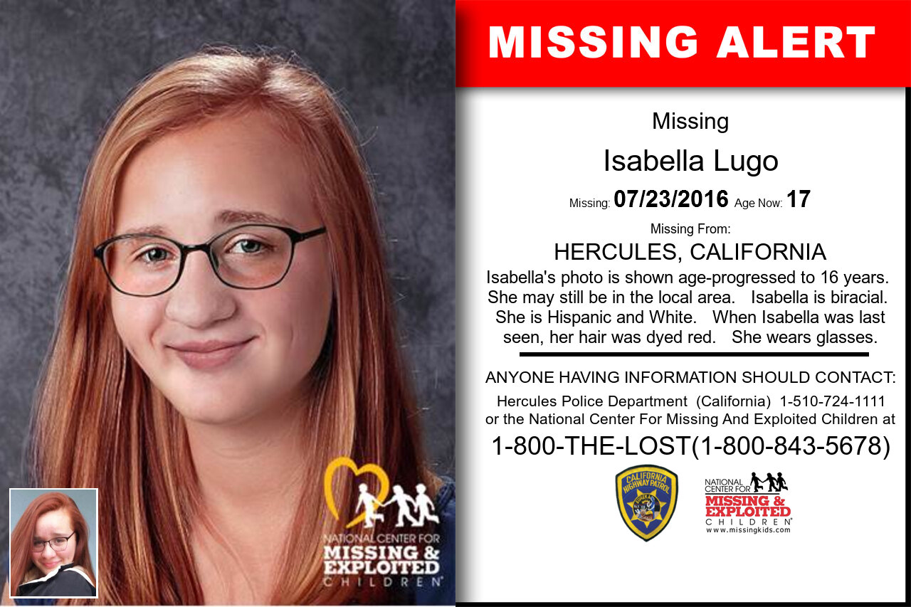 Isabella_Lugo missing in California