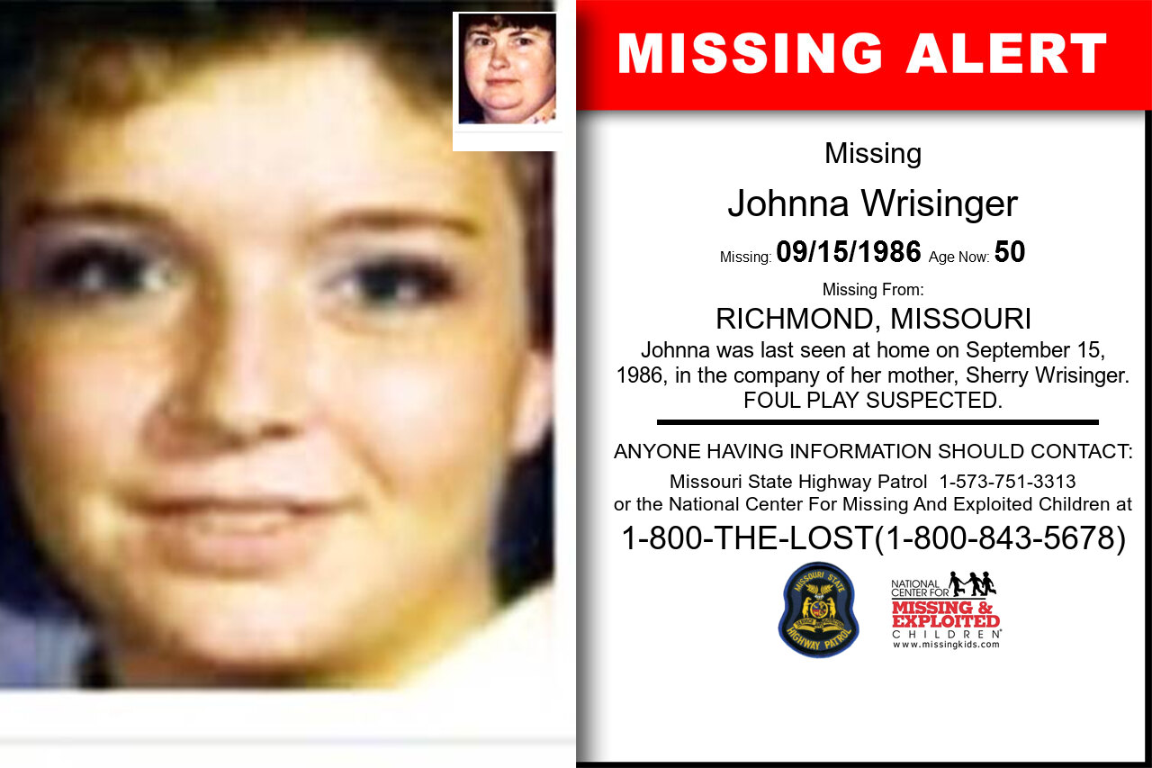 JOHNNA_WRISINGER missing in Missouri
