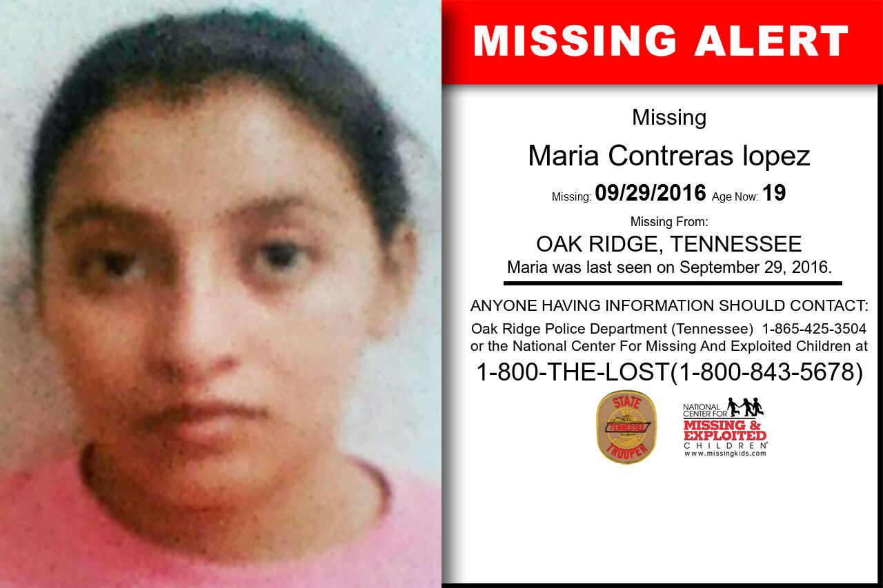 Maria_Contreras_lopez missing in Tennessee