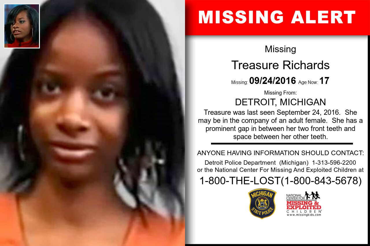 Treasure_Richards missing in Michigan