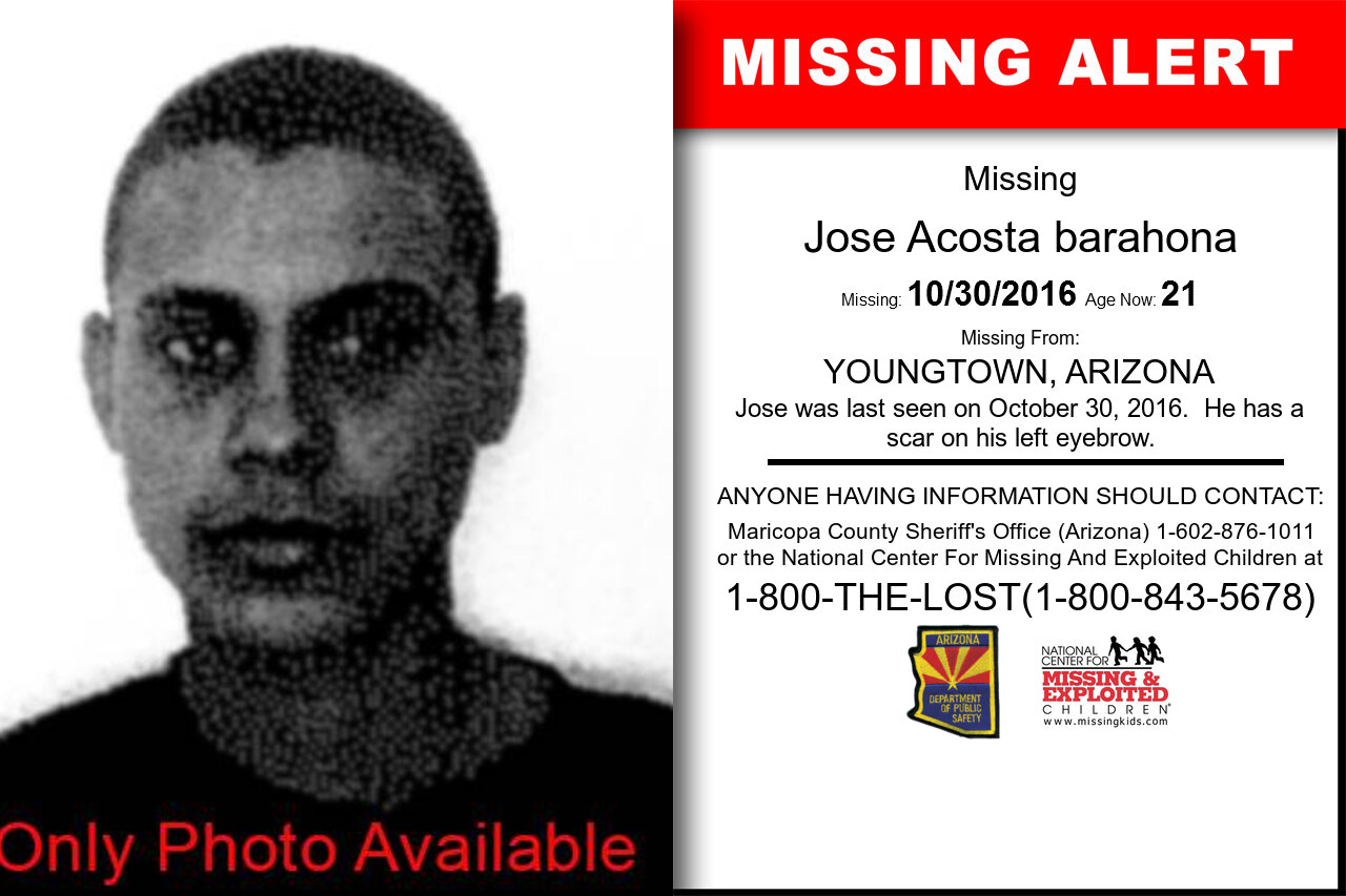 JOSE_ACOSTA_BARAHONA missing in Arizona