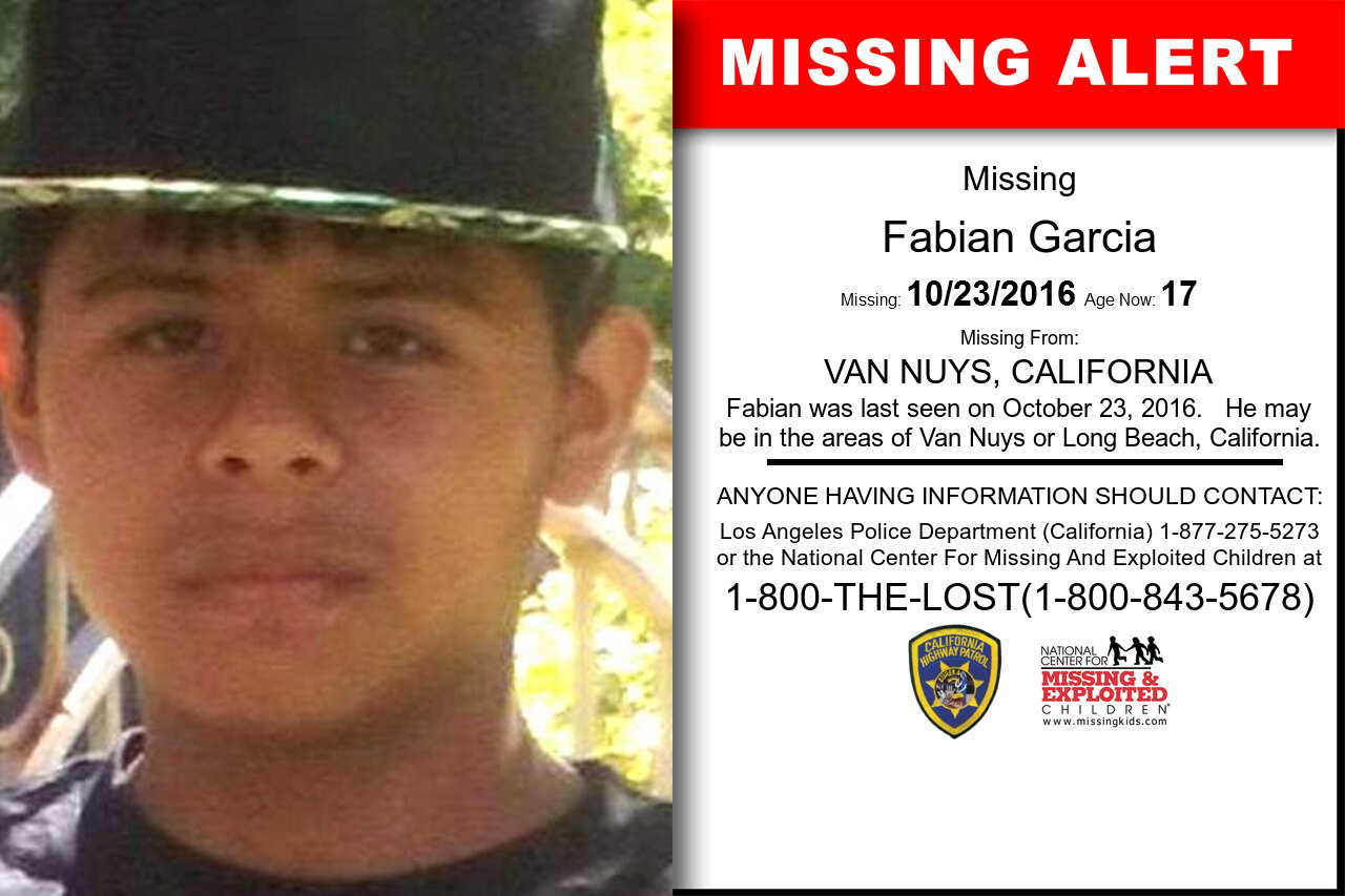 FABIAN_GARCIA missing in California