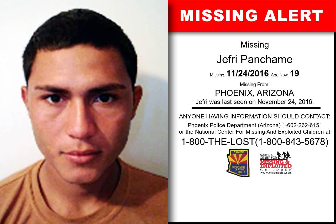 JEFRI_PANCHAME missing in Arizona