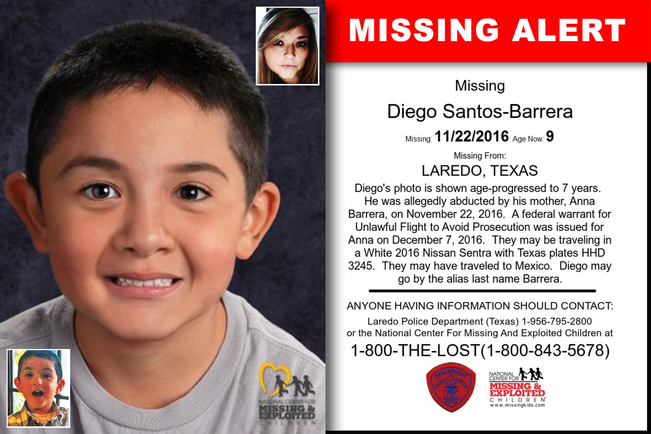 Diego_Santos-Barrera missing in Texas