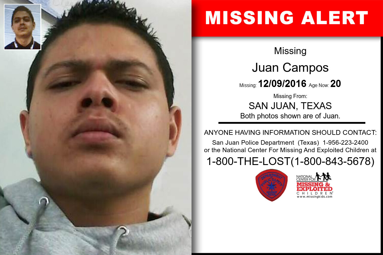 JUAN_CAMPOS missing in Texas