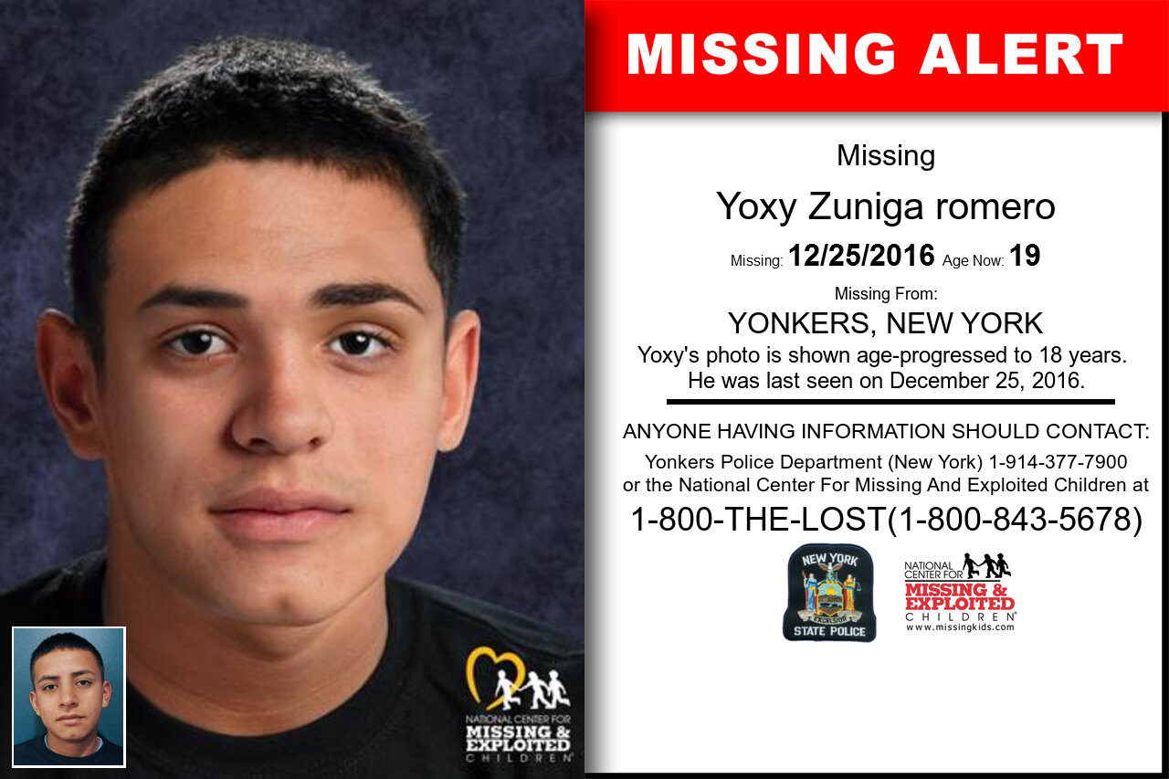 YOXY_ZUNIGA_ROMERO missing in New_York