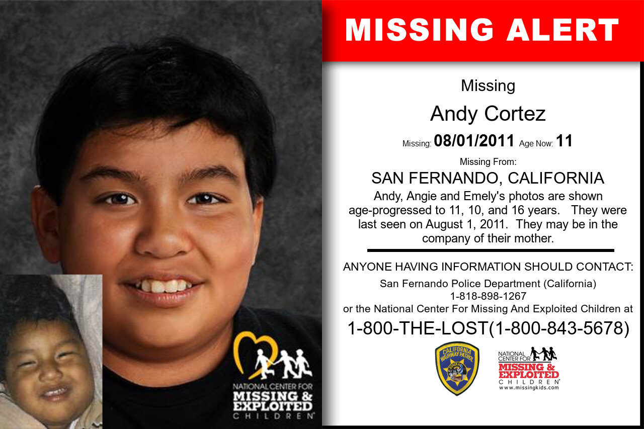 ANDY_CORTEZ missing in California