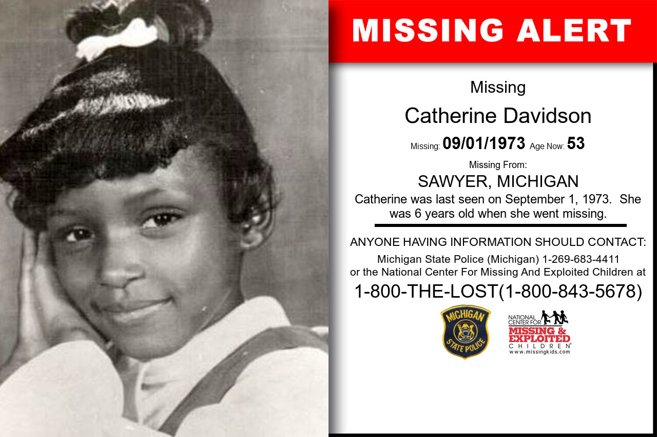 CATHERINE_DAVIDSON missing in Michigan