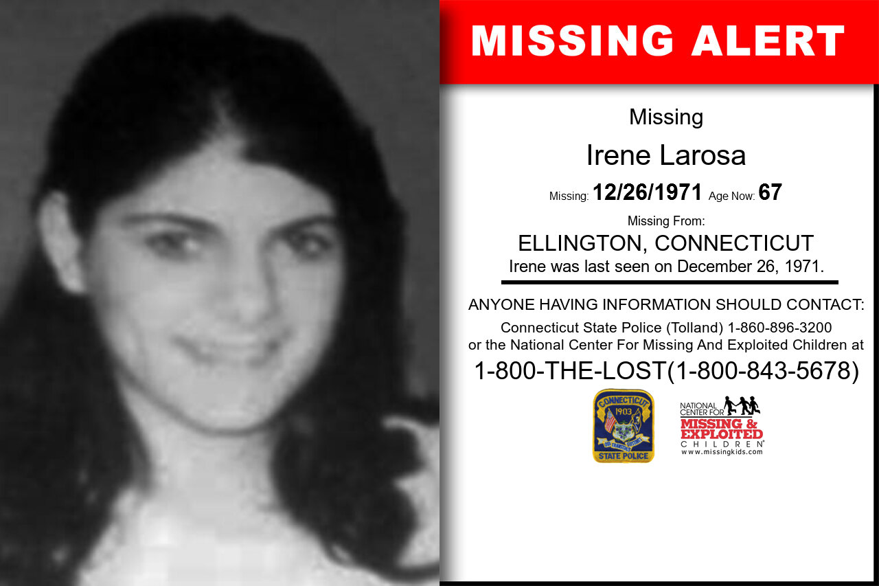 IRENE_LAROSA missing in Connecticut