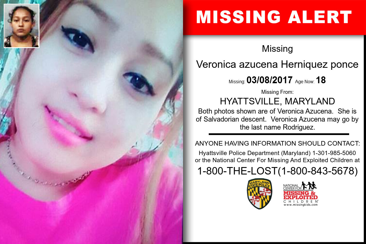 Veronica_azucena_Herniquez_ponce missing in Maryland