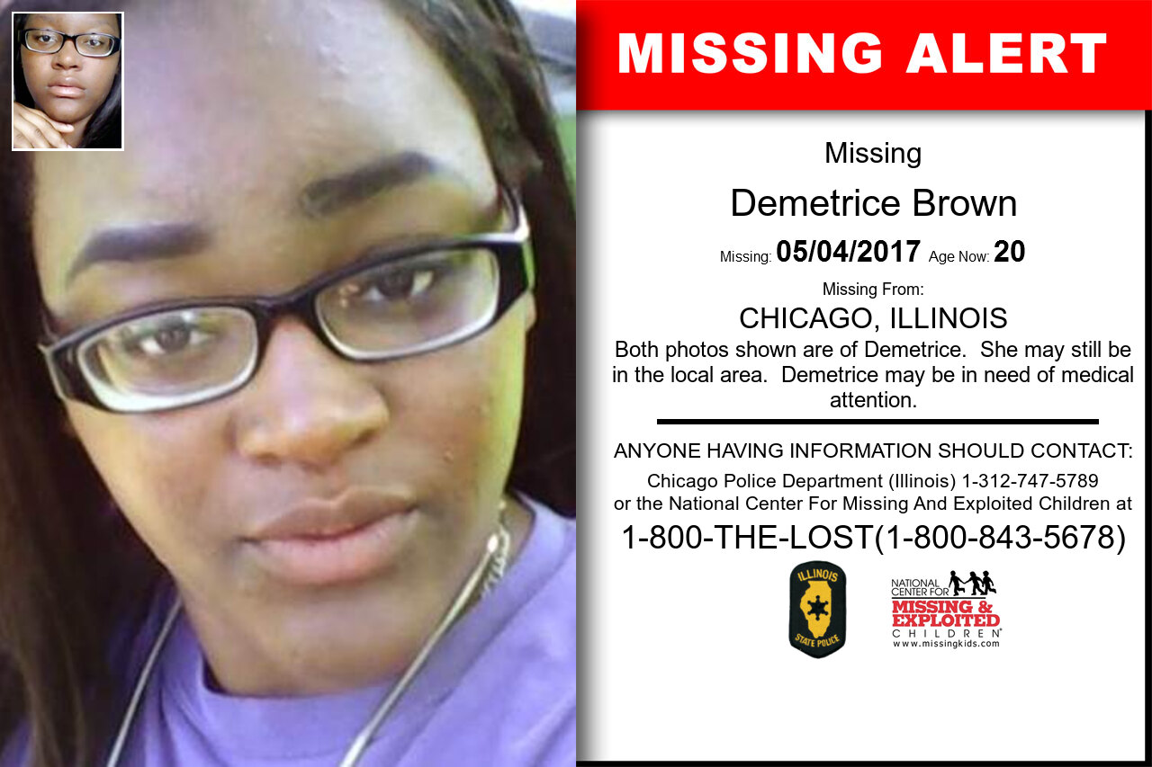 DEMETRICE_BROWN missing in Illinois